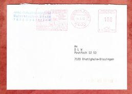 Brief, Francotyp-Postalia B06-1361, Buergermeisteamt Oberkirch Partnerschaft Draveil, 100 Pfg, 1990 (36022) - Machine Stamps (ATM)