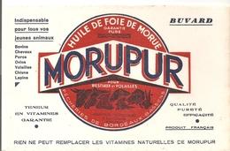 Buvard. MORUPUR Huile De Foie De Morue MORUPUR Pour Bestiaux Et Volailles Pécheries De Bordeaux Bassens - Agriculture