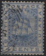 GUYANE BRITANNIQUE BRITISH GUIANA GUYANA 35 (o) Voilier Frégate Sandbach Sailing Ship (cv 13 €) - British Guiana (...-1966)