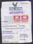 BANGLADESH - 100 Taka Old Revenue Stamp PAIR On Part Of Ship Document. - Bangladesh