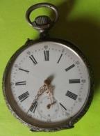 MONTRE GOUSSET En ARGENT - Après 1900 - NE FONCTIONNENT PAS - Pour Pièces - Watches: Bracket