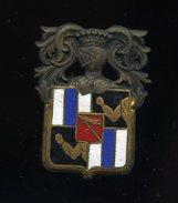 Ancien Insigne émaillé -- à Identifier  -- Courtois Paris  Ins5 - Marine