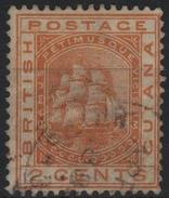 GUYANE BRITANNIQUE BRITISH GUIANA GUYANA 66 (o) Voilier Frégate Sandbach Sailing Ship - British Guiana (...-1966)