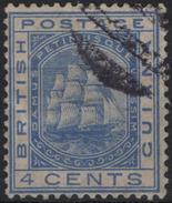 GUYANE BRITANNIQUE BRITISH GUIANA GUYANA 67 (o) Voilier Frégate Sandbach Sailing Ship (cv 10 €) 1 - British Guiana (...-1966)