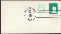 AZ386    USA 1971 Scott U561 6c. Liberty Revalued,  Postcard Stationery - Interi Postali