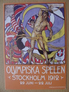 Sweden Pws 1997-01-27 Olympic Games Stockholm 1912 Poster Entier Ganzsache Postal Stationery Card A 9,50 Euro