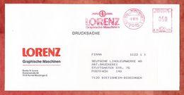 Drucksache, Francotyp-Postalia B06-1075, Lorenz Graphische Maschinen, 50 Pfg, Korntal-Muenchingen 1986 (36033) - BRD