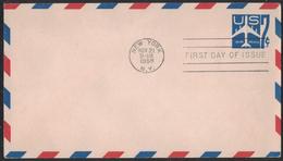 AZ388    USA 1958  Air Mail 7c, Postcard Stationery - 1941-60