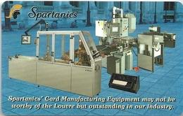 Spartanics Card Manufacturing Equipment Promo Card - Tarjetas Telefónicas