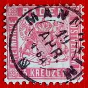 Bade N° 17 Oblitéré - Allemagne Anciens états . Belle Oblitération - Baden