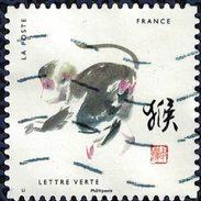 France 2017 Oblitéré Used Signes Astrologiques Chinois Année Du Singe Y&T 1382 - France