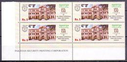 2009 Pakistan 150 Years Of Bai Virbaiji Soparivala Parsi High School Karachi, Education, Imprint Block Of Four (BPK-08)