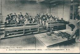 ECOLE  D' AGIRCULTURE  De  BLANQUEFORT  (  Médoc )  Un  Cours  à  L' Amphithéâtre   (   Personnages à Identifier ) - Blanquefort