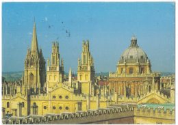 HZ389     Regno Unito - Oxford - St. Mary's Church - The Hawkesmoor Towers - Radcliffe Camera - Inghilterra