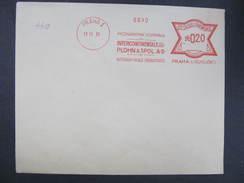 BRIEF Praha 1 Plohn + Spol 1931  Frankotype Freistempel Postfreistempel  /// O5861 - Tschechoslowakei/CSSR