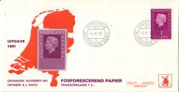 Nederland - Molenreeks/W-enveloppe - Koningin Juliana Regina - W42/955b - Philato - FDC