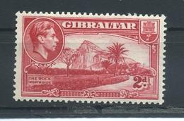 GIBRALTAR    1938    2d  Carmine     MH - Gibraltar