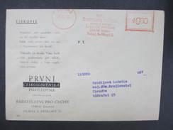 BRIEF Praha 1 Prvni Ceskoslovenska Pojistovna 1946 Frankotype Freistempel Postfreistempel  /// O5849 - Tschechoslowakei/CSSR