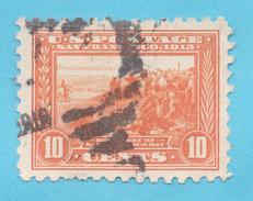 USA N° 198a B (YT) 10 C. Orange Découverte Baie San Francisco, Oblitéré, Dentelé 10 TBE Voir Photos - United States