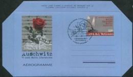 2015 Vaticano, Aerogramma 70° Ann. Liberazione Auschwitz , Serie Completa Con Annullo Ufficiale - Interi Postali