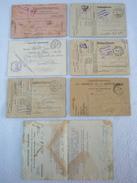6 CARTES DU POILU 14/18 SOLDAT BIBET JEAN-FRANCOIS PRISONNIER DE GUERRE TITRE DE LIBÉRATION DE 1937 + LETTRE CROIX ROUGE - 1914-18