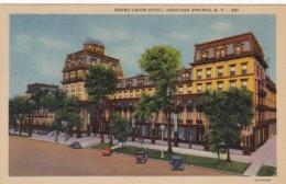 New York Saratoga Springs Grand Union Hotel 1953 Curteich - Saratoga Springs