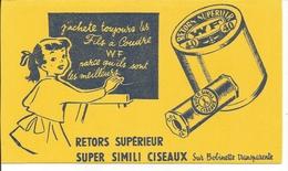 Buvard Fils à Coudre WF. Retors Supérieur. - Textile & Vestimentaire