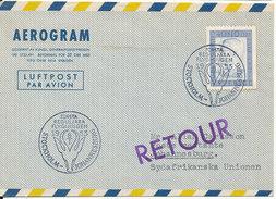 Sweden Aerogramme First SAS DC-6B Flight Stockholm - Johannesburg 8-1-1953 - Briefe U. Dokumente