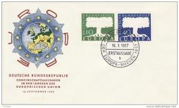 GERMANY 1957 EUROPA CEPT FDC ( Bonn 1 B ) - Europa-CEPT