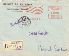 EMA- ORAN-31/10/1962-Banque De L'Algérie-Machine MG10503 - Lettres & Documents