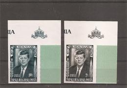 Kennedy ( Lot De 2 Timbres Privés Non Dentelés  XXX -MNH- Des Exilés Bulgares En 1963 à Voir)