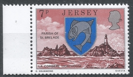 Jersey 1976. Scott #141 (MNH) Arms And Scene Of St. Brelade, La Corbière Lighthouse * - Jersey