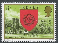 Jersey 1976. Scott #142 (MNH) Arms And Scene Of Church Of St. Saviour * - Jersey