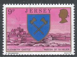 Jersey 1976. Scott #143 (MNH) Arms And Scene Of St. Helier, Elizabeth Castle * - Jersey