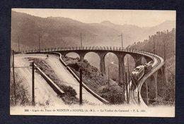 06 MENTON N° 306 Ligne Du Tram Menton à Sospel  Viaduc Du Caramel - Menton