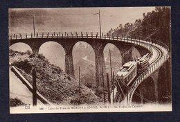 06 MENTON N° 299 Ligne Du Tram Menton à Sospel  Viaduc Du Caramel - Menton