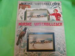 Norske Vinterbilleder John Fredrikson Eft Kunstforlag Kristiana  N°1 Et N°2 De 1907 Tres Belles Photo Noir Et Blanc - Books, Magazines, Comics