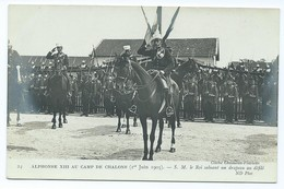 2714 Lot 5 Cartes Visite ALPHONSE XIII Camp Chalons Tente Royale 1905 Manoeuvres Pylone Mourmelon Cheval Horse Alfonso - Châlons-sur-Marne