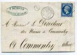 T15 JOUET S L'AUBOIS + Boite Rurale A Identifié De MARSEILLE LES AUBIGNY / Dept 17 CHER / 1862 - Marcophilie (Lettres)