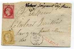 Lettre CHARGE De VIGNORY / Dept 50 Haute Marne / 21 Juillet 1872 - Marcophilie (Lettres)