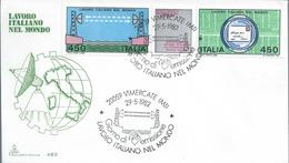 Radio. Microwave Radio Relay On The Red Sea. Richtfunk Am Roten Meer. Block Of Two Stamps And Sticker. Unusual - Telecom