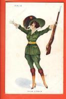 IAY-24 Série Les Femmes Soldat :  Italie E Viva L'Italia. Non Circulé - Umoristiche