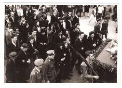 Photo Originale Cortège Funérailles Militaires ; Officier ; TB - Guerre, Militaire