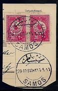 GREECE 1910 TURKEY SAMOS Hellas#-- TURKISH STAMPS CANCELLED PMK SAMOS USED - Samos