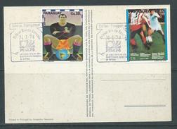 Paraguay 1974 Soccer World Cup Germany PPC With 2 Values FDC Unaddressed - Paraguay