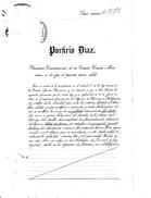 Mexico  PORFIRIO  DIAZ  GOLD  AND SILVER  LAND  DEED  1909  TO AMERICAN  CO. - Mexico