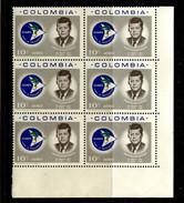 Colombia, Kolumbien, 1963,  John F. Kennedy