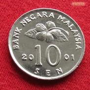 Malaysia 10 Sen 2001 KM# 51 Malasia Malaisie Malaysie - Malaysie