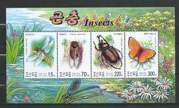 North Korea 2003 Insects.papillons.Butterflies.S/S.MNH - Corée Du Nord