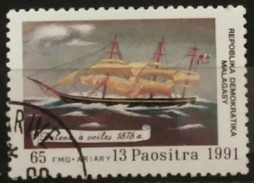 MADAGASCAR 1991 The 500th Anniversary Of The Discovery Of The Americas - Ships. USADO - USED. - Madagascar (1960-...)